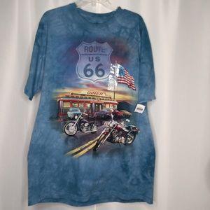 THE MOUNTAIN Route 66 Tye Dye T-Shirt Sz XL
